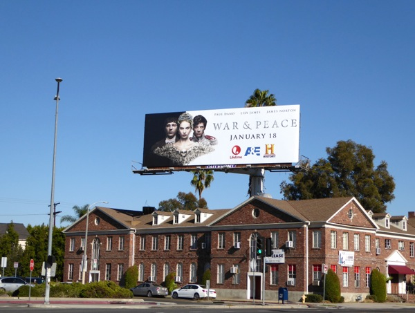 War Peace TV miniseries billboard