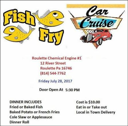 7-28 Car Cruise & Fish Fry, Roulette VFD