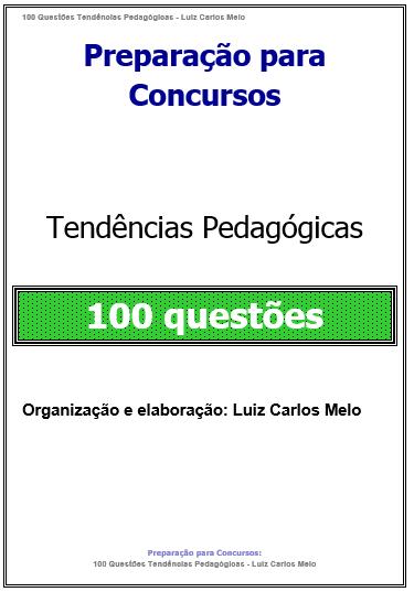 100 Questões Tendências PedagógicaS