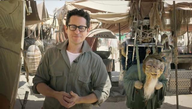 jj abrams en el set de rodaje de Star Wars: el despertar de la fuerza