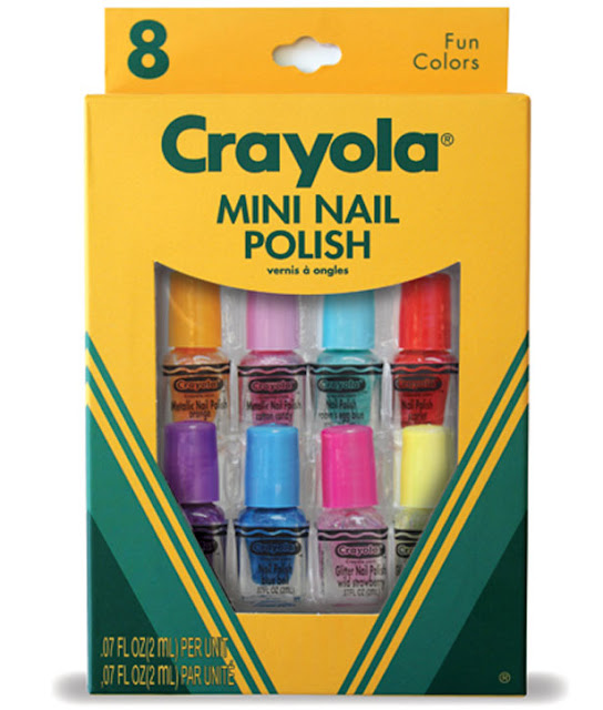 Crayola nail set packaging
