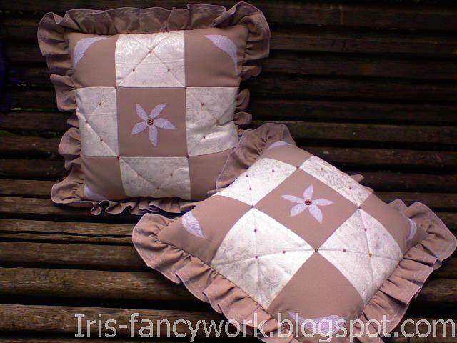 Как сделать подушку с рюшей