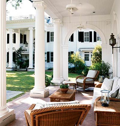 A Beautiful Covered Patio On One End Of The Pool House Offers Shade From  Those Hot Southern Afternoons, All Thatu0027s Missing Is A Round Of Mint Juleps!