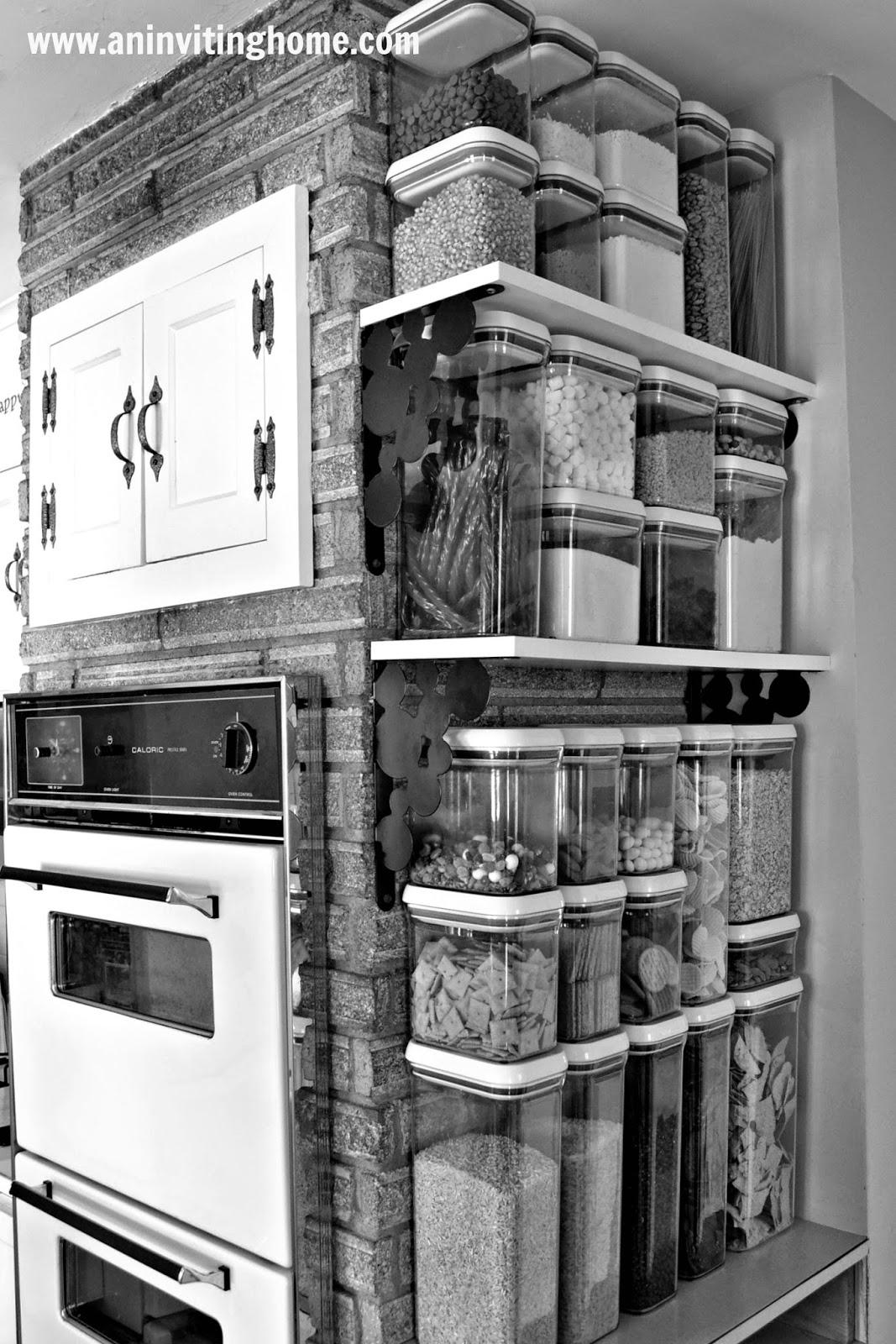 food storage in the kitchen