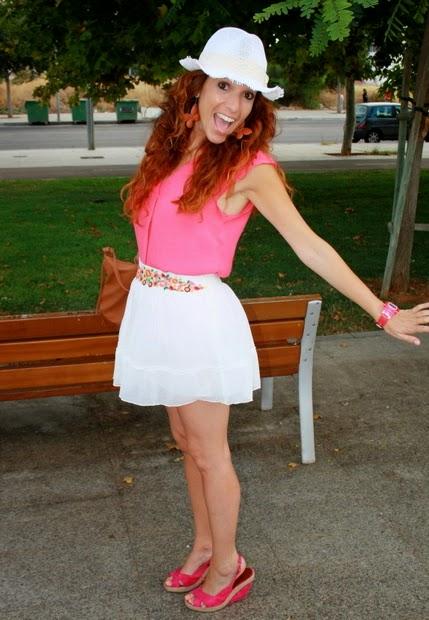 outfit veraniego falda gasa