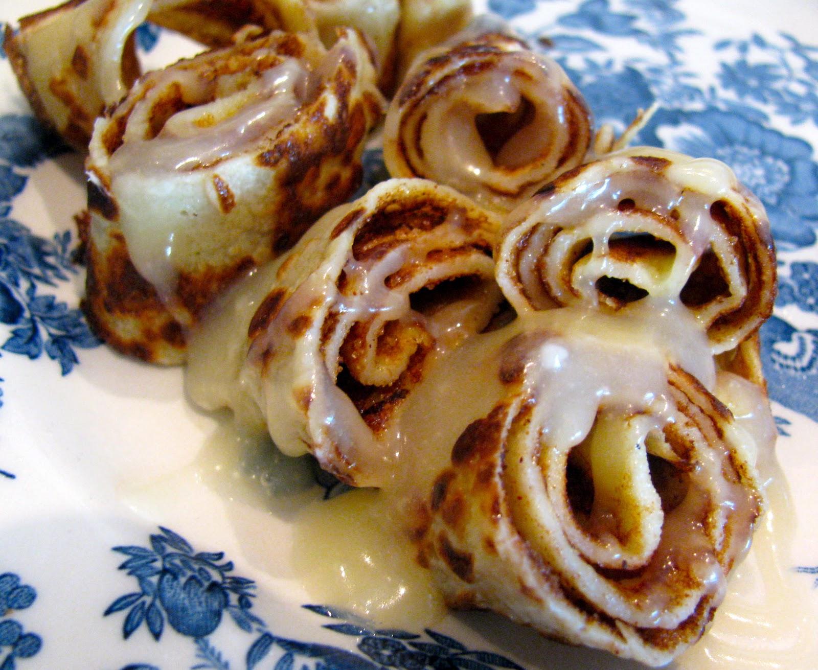 Rolls of pancakes
