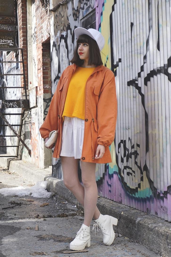 orange, streetstyle, Naomi Larocque for Fashion Is My Religion
