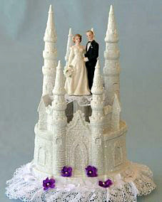 Glitter Castle Wedding Cake Topper