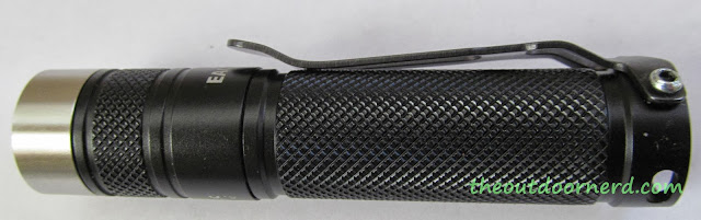 Eagletac D25A Mini 1xAA Flashlight: Side View Of Flashlight