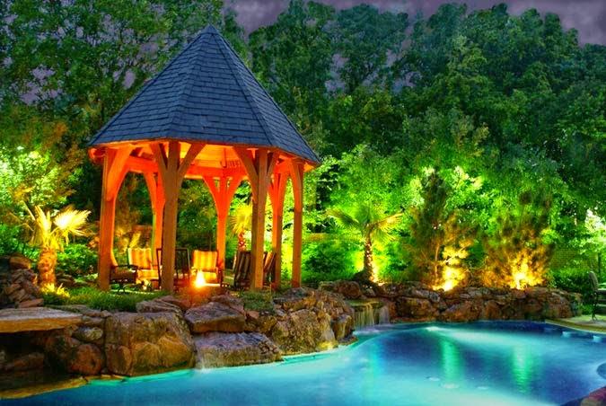Dise o y decoraci n de la casa luz para decorar y hacer for Jardines pequenos con luces