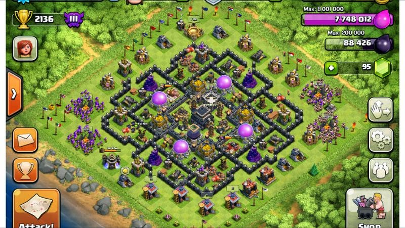 Clash of clans base recommendation town hall 9 town hall 9 sciox Choice Image