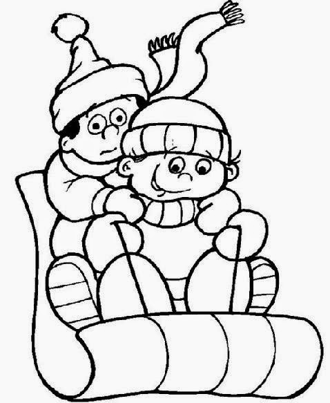 Snowy Day Coloring Sheets