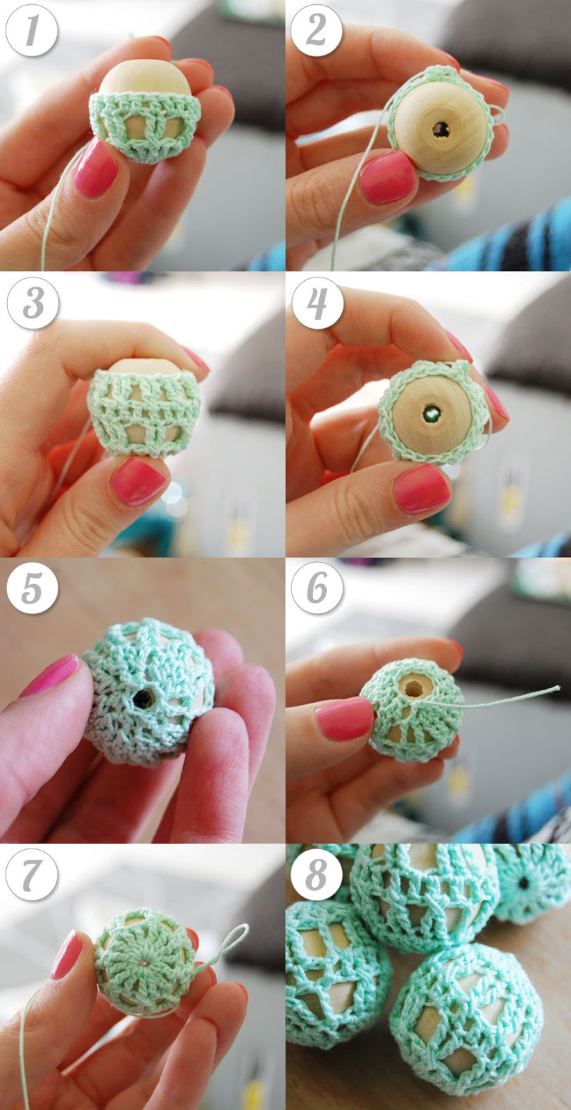 Crochet Pattern With Beads : mon makes things: Free Pattern: Crochet Wooden Beads