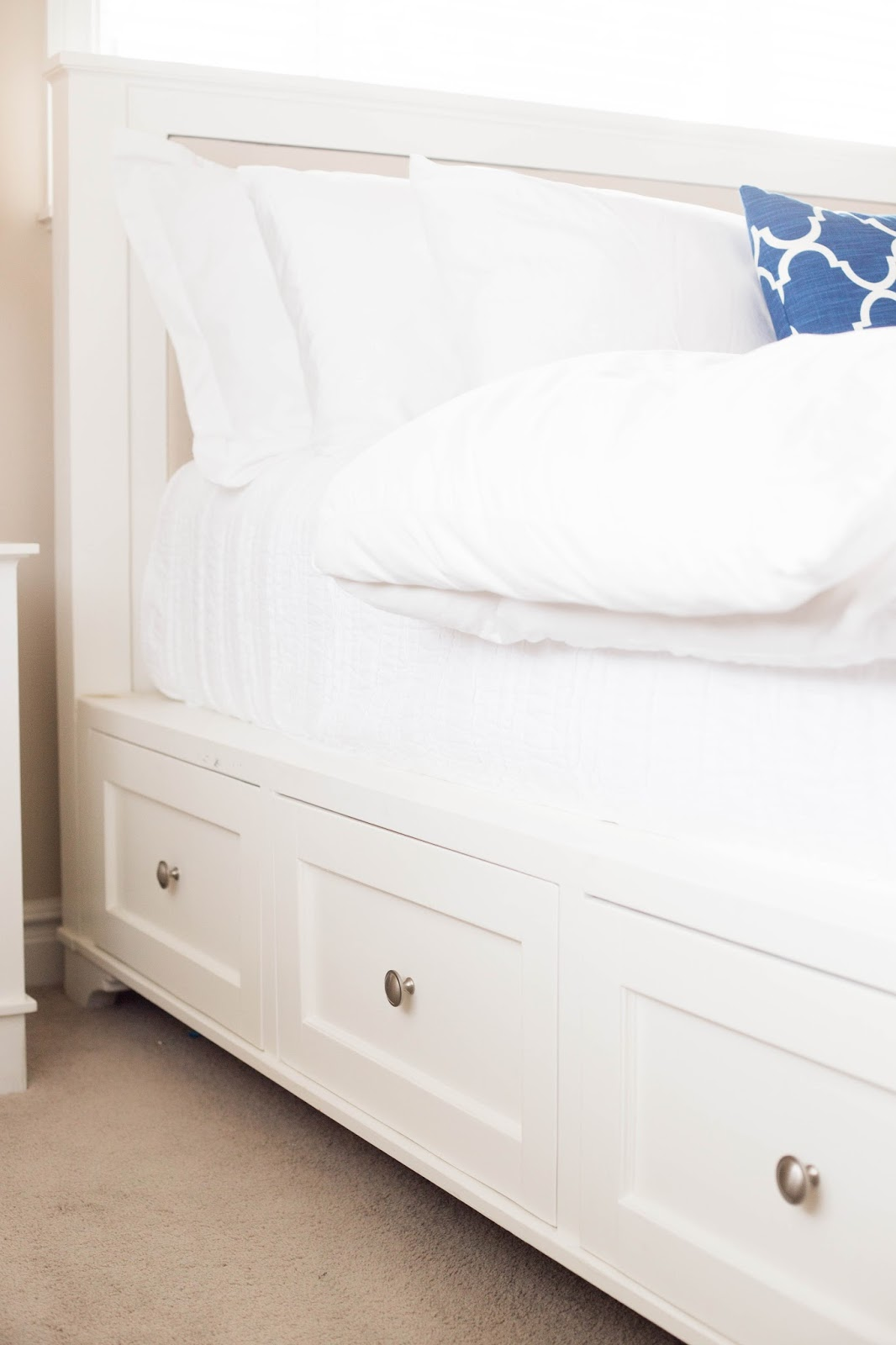 This bed will cost you approximately $500 in materials which is much less than the actual Pottery Barn Bed you can buy - which our bed was ... & do it yourself as: Make This Beautiful DIY Pottery Barn Storage ...