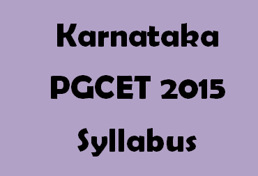 Karnataka PGCET M.Tech Syllabus