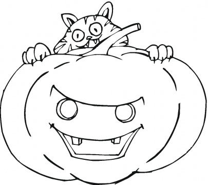 With Trials: Pumpkin Face Coloring Pages