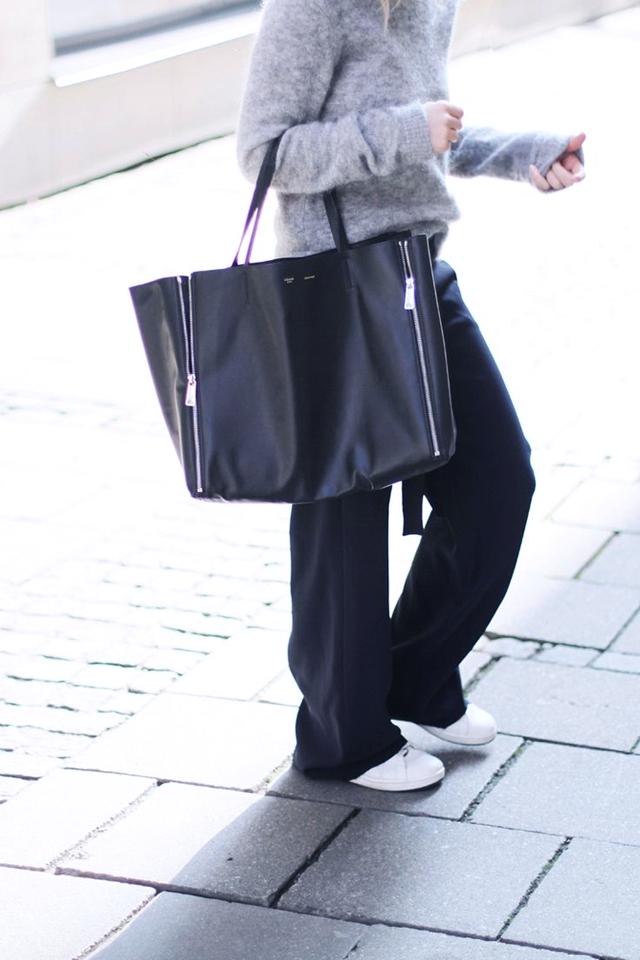 Wide leg trousers, pants, mija, fashion blogger, sportive, street style