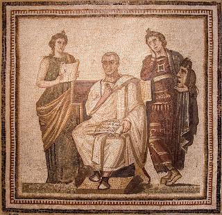 "La mosaïque de Virgile ""Musa, mihi causas memora"" au musée du Bardo"