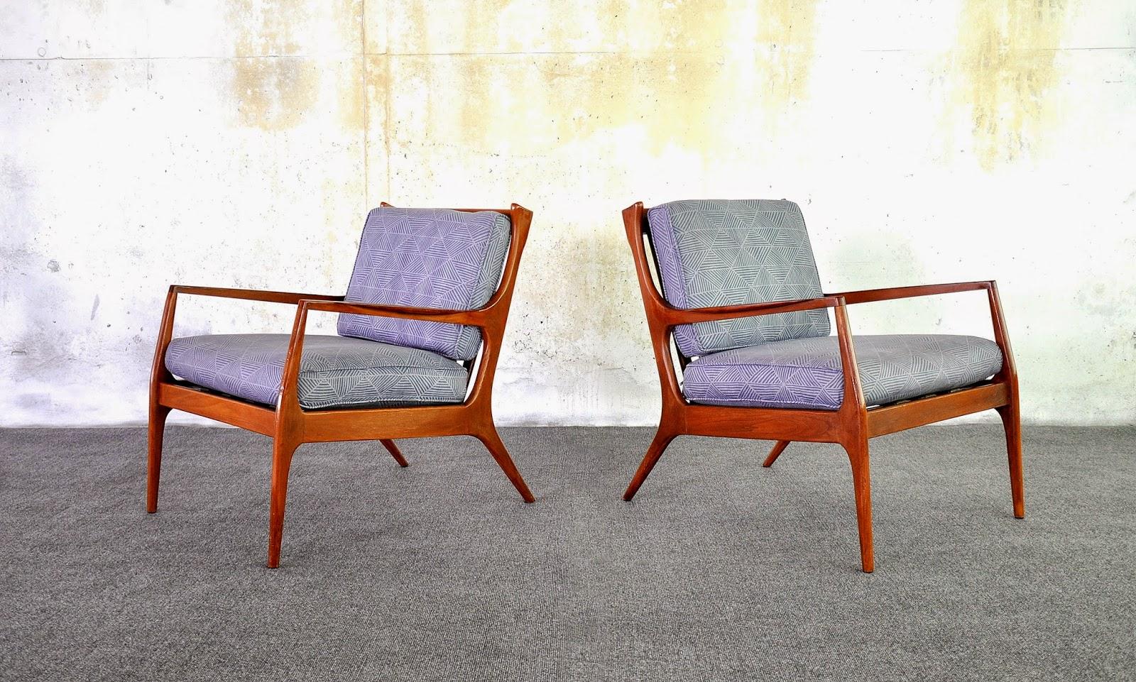 Selig Kofod-Larsen chairs refinish advice - Design Addict