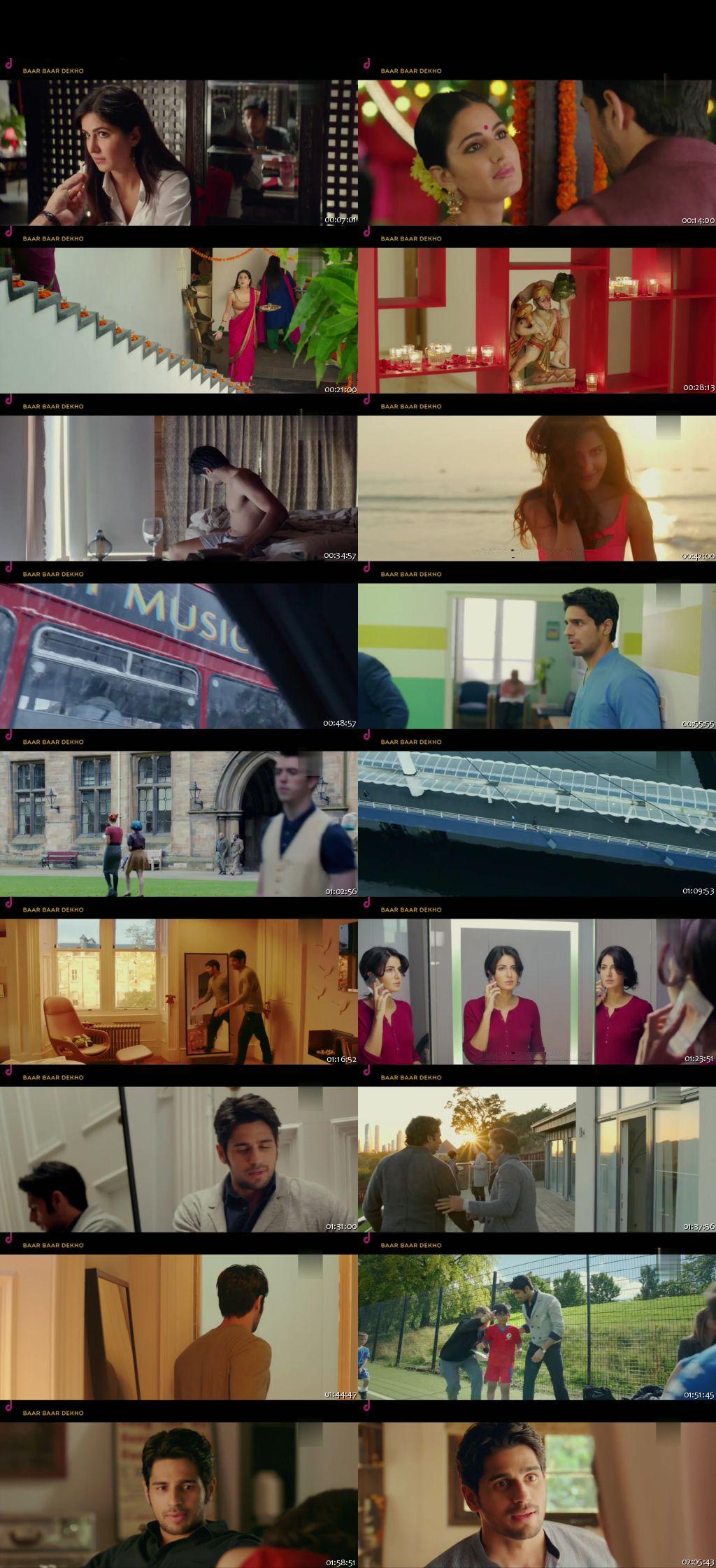 Screen Shot Of Baar Baar Dekho 2016 Full Movie Free Download HD 720P Watch Online