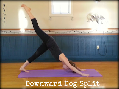 down dog split