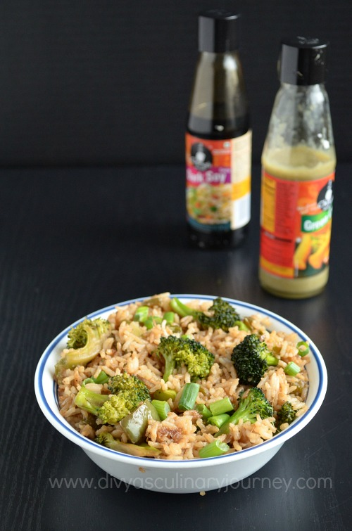 Vegan Fried Rice using Broccoli