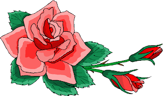 Beauty Red Rose Flowers Clipart