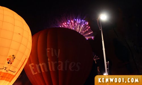 putrajaya hot air balloon fireworks