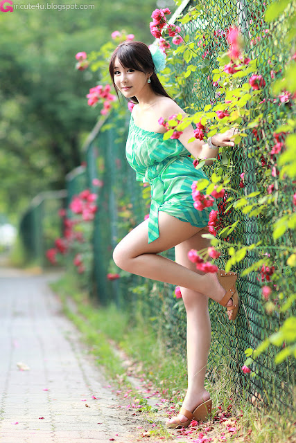 7 Kim Ji Min in Green-very cute asian girl-girlcute4u.blogspot.com