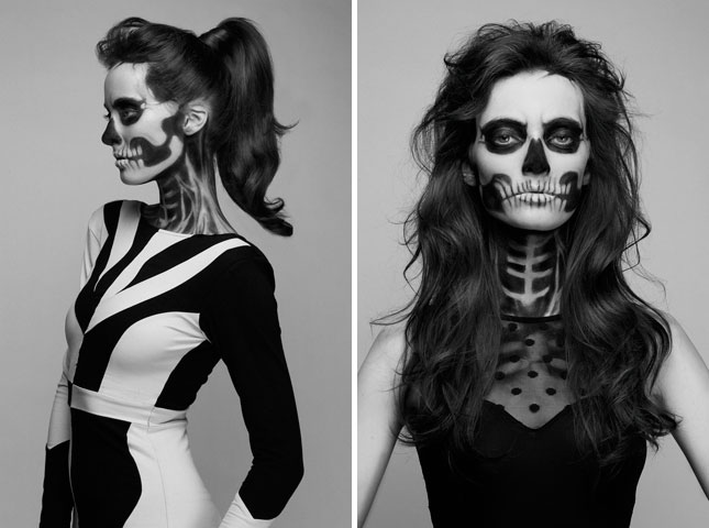 S-J London Makeup Artist: Halloween 2012, Skeletal Makeup.