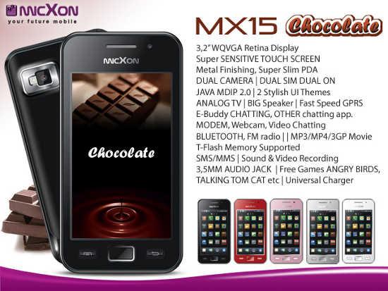 Spesifikasi Harga Micxon MX15 Chocolate Review