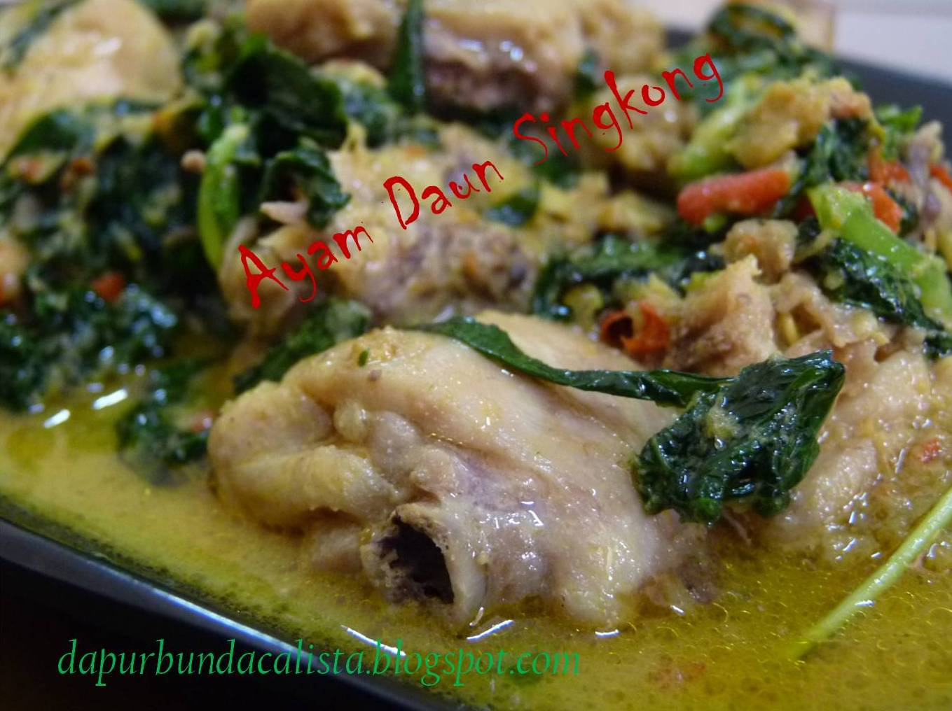 Ayam Masak Daun Singkong