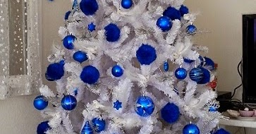 Decoration Sapin De Noel Blanc Et Bleu Moments De Noel Agreables 2019