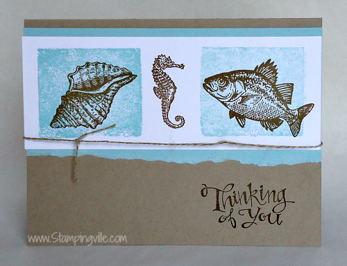 Stampin' Up! By the Tide stamp set card