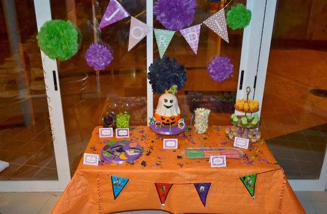 mesa dulce cumpleaños niño halloween tarta fondant gandia sugar dreams oliva la safor