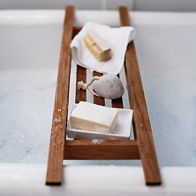 5 of The Best Vintage Style Wooden Bath Racks - Karen Barlow
