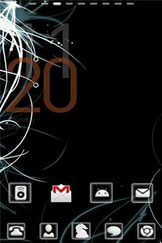 White and Black Android Theme Apk