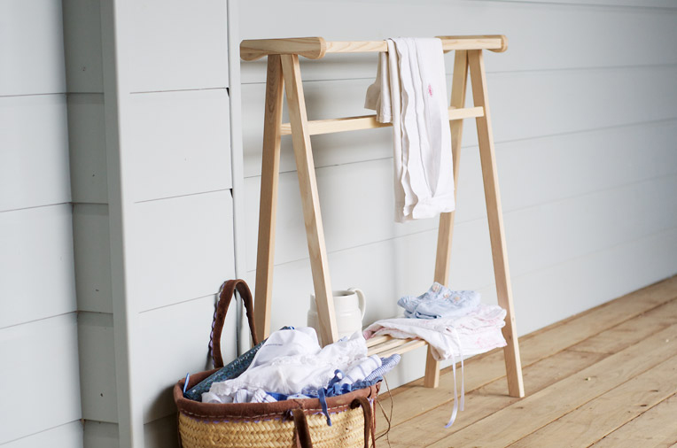 ladder towel rack with baskets the paper mulberry april 2012