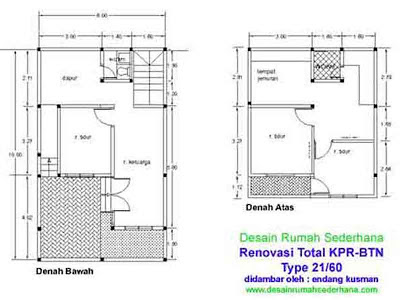 Gambar Denah Rumah Sederhana KPR -02