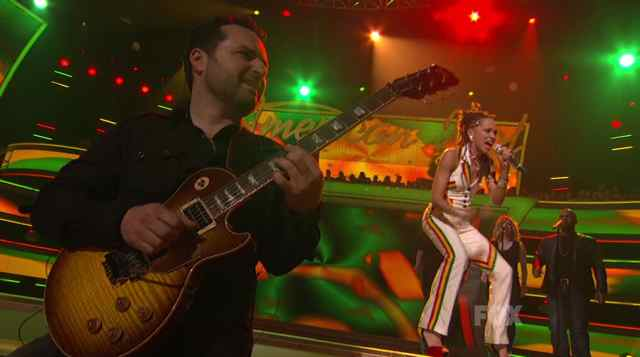 American Idol Guitar Player Tony Pulizzi plays reggae with Naima Adedapo