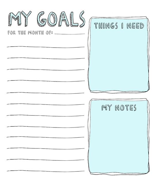 July Goals: with Printable List – Julie Ann Art