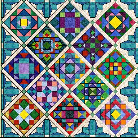 Morning Glory Designs: BOM Sashings and Setting Triangles