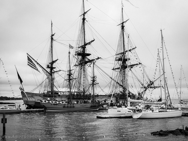 The Hermione tall ship in Yorktown