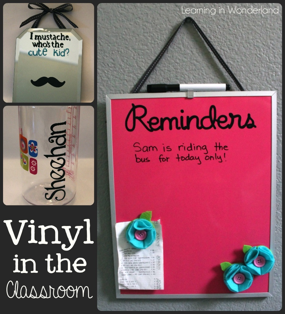 Classroom Ideas Using Cricut ~ Classroom craft linky party learning in wonderland