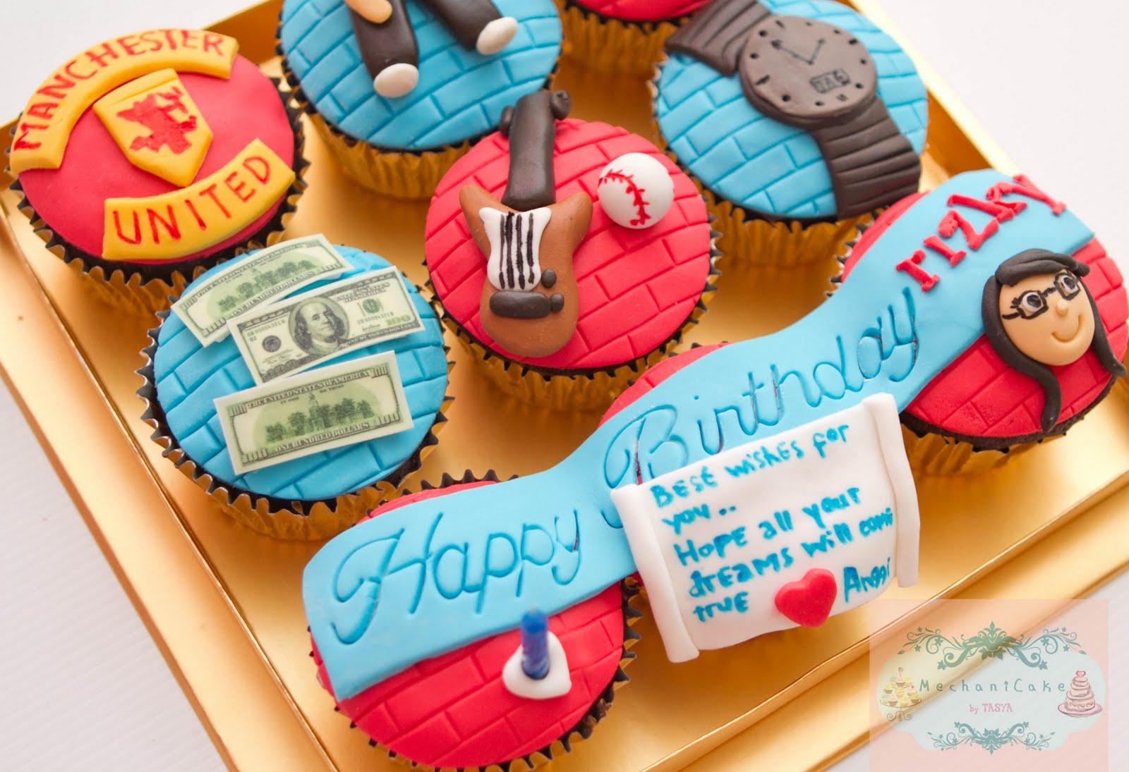 MechaniCake: Birthday cupcake set for Rizky