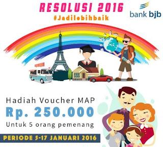 Lomba Foto Resolusi di Tahun 2016 dari Bank BJB Berhadiah Voucher Map
