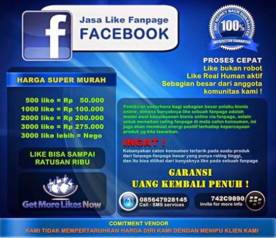 JASA LIKE FANPAGE SUPER MURAH 2014