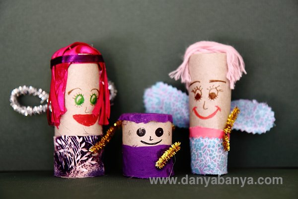 fairy toilet paper roll doll family