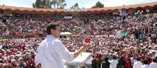 Enrique Peña Nieto tomta protesta a miles tlaxcaltecas que se suman a su estructura.