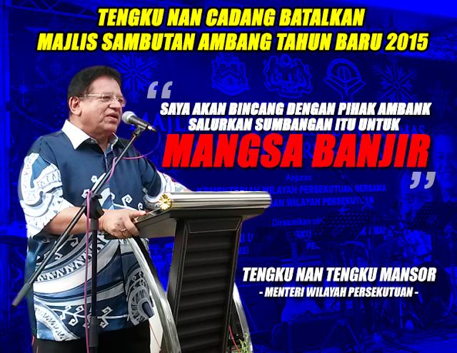 @najibrazak : Wilayah Persekutuan Cadang Batal Sambutan Tahun Baru - Tengku Adnan